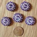 Buttons Set of 5pcs sparkling crystal rhinestone plasti