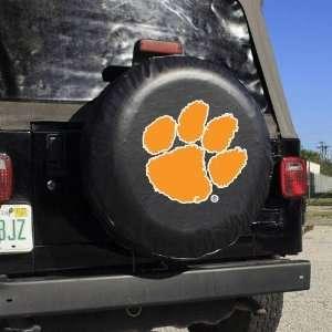 NCAA Clemson Tigers Black Logo Tire Cover Sports