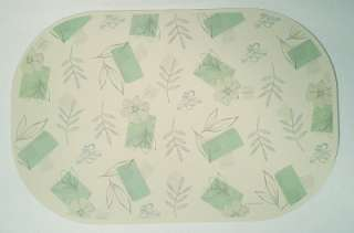 CORELLE TEXTURED LEAVES REVERSIBLE PLACEMATS *NEW HTF
