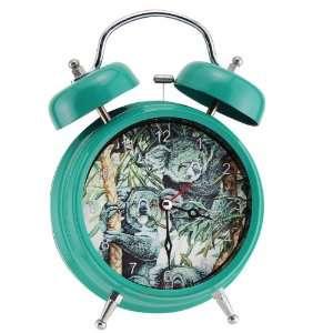 Green Wildlife Koala Double Bell Alarm Clock Home