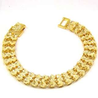 FASCINATE 18K GOLD GP NECKLACE BRACELET EARRING SET SOLID FILL GEP