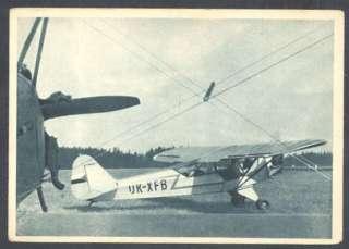 Airplane Lietadlo Piper Cub Czechoslovakia Postcard
