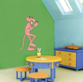 Pink Panther Cartoon Wall Decor Sticker 14x25