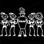 BIG PIMP FAMILY Stick Figure Car window sticker decal