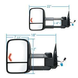 2006, 2007 POWER HEATED SIGNAL TOW TOWING MIRROR (New Pair)