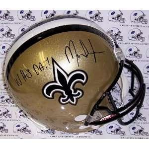 Mark Ingram Autographed Helmet   WHO DAT F S JSA   Autographed NFL