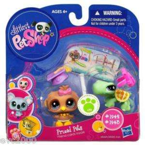 Littlest Pet Shop Lot TURTLE #1942 OWL #1943 NEW NIB
