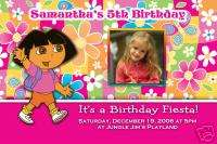 Custom Photo DORA Birthday Party Invitations 20