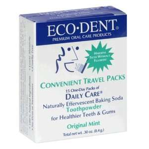 Eco Dent Daily Care Toothpowder, Original Mint, 0.3 oz (8