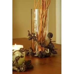 Rustic Lodge Pine Cone Vase