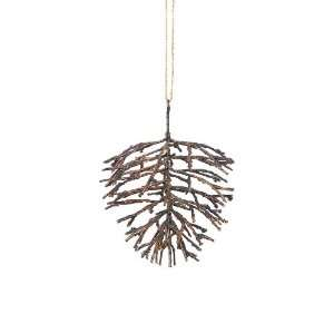 Pack of 8 Modern Lodge Rustic Bronze Pine Cone Christmas Ornaments 5.5