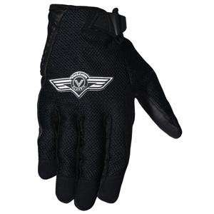 Joe Rocket Kawasaki Vulcan Mesh Gloves   Medium/Black