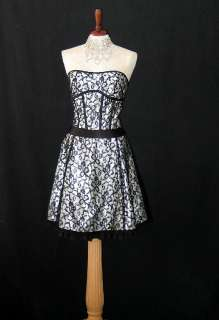NWT Jessica McClintock Lace Corset Short Dress Gown Size 7