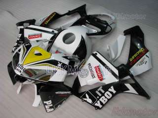 CBR 600 RR 05 06 F5 2005 2006 FAIRING Kits Play Boy White Black