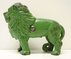 Cast Iron Green Lion Bank