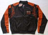 HARLEY DAVIDSON BLACK/ORANGE JACKET XLARGE HD62BK XL
