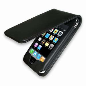 New PU Leather Flip Case For iPhone 3G 3Gs Apple Black