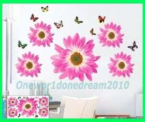 Flowers Mural Art Deco Wall Sticker Paper Decal LH1306