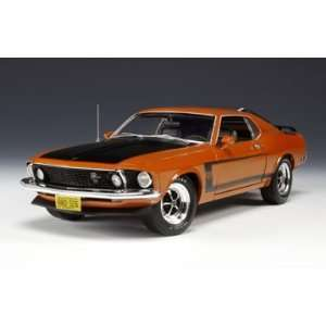 1969 Ford Mustang Boss 302 Calypso Coral/Orange 1/18