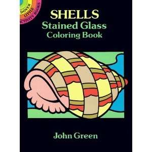 com Shells Stained Glass Coloring Book (Dover Stained Glass Coloring