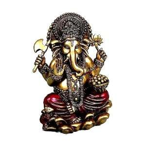 Colored Polyresin Indian Hindu Elephant God Ganesh: Everything Else