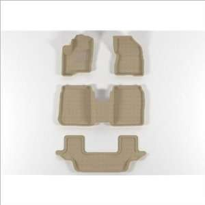 Ace L1FR02102202 FORD Flex 2009 2011 Beige CLASSIC Molded Floor Mats