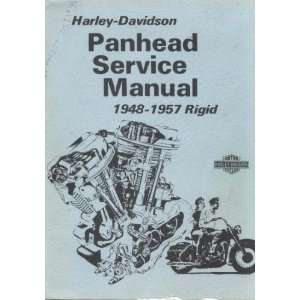 Harley Davidson Panhead Service Manual 1948 1957 Rigid: Harley