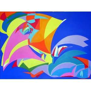 Original Artwork from Artist Maïa Latourte Ily Maï Blue   35 Inches