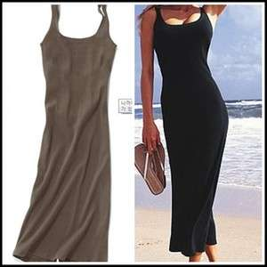 womens clothing long brown maxi dress,simple sleeveless dress,size S,M