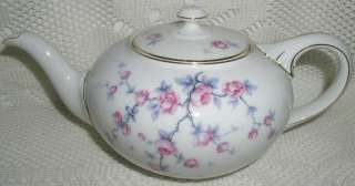 Rosenthal Rosenthale Germany Teapot Tea Pot Pink Flower