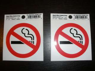 No Smoking STICKERS decals sign 3x3 Made In USA