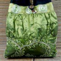 Hobo Floral Embroidered Shoulder Bag Purse Womens Handbag Green J6 BTP