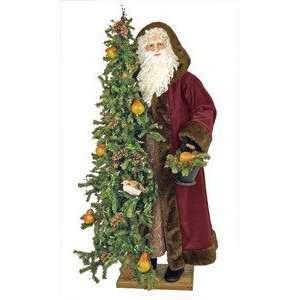 57 Ditz Father Christmas Pear Tree Santa and Birds