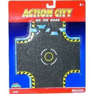 Action City On The Road Crossroad Tracks: Toys & Games