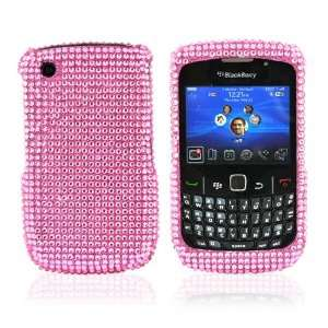 Blackberry Curve 8520 8530 Bling Case Pink + LCD Cover