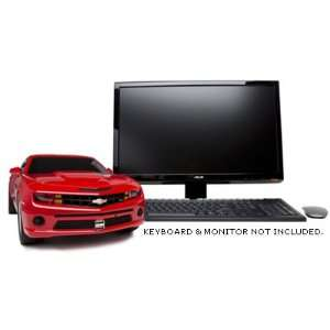 Red Chevy Camaro Entertainment System Desktop Computer