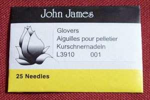 John James Needles Glovers leather tri point size 1 thru size 12