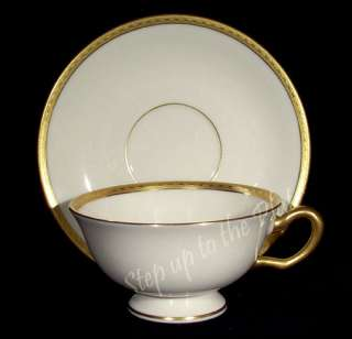 Cup & Saucer /s S8 S 8 Gold Encrusted Green & Gold Marks