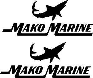 Qty 2 Mako Marine Boat Vinyl Sticker Decal 36