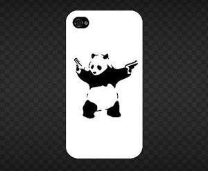 Banksy Graffiti Panda with Gun iPhone 4, 4S case (shirt graphics