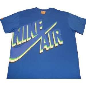 Nike Air Mens Dunk T Shirt Royal Blue Big Swoosh Sports