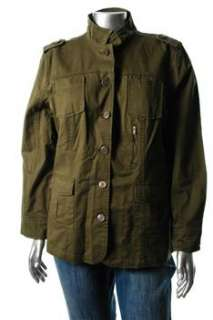 LAL Live A Little NEW Green Jacket BHFO Coat Sale Misses M