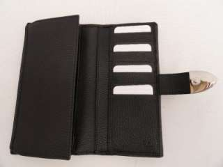 BN Auth GUCCI Black Leather Long Wallet Purse Bag   Boxed Great Gift