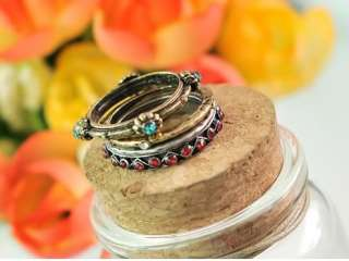 SIMITTER NEW Fashion Ancient 4in1 Rhinestone Mysterious Ring