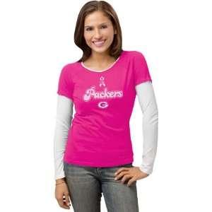 Green Bay Packers Womens Pink Breast Cancer BCA Ribbon
