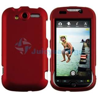 Wine Red Rubber Cover Hard Case+DC+AC Charger+Guard Privacy For HTC