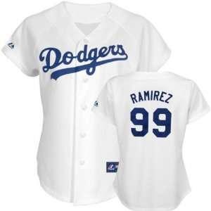 Manny Ramirez Majestic Replica Los Angeles Dodgers Womens