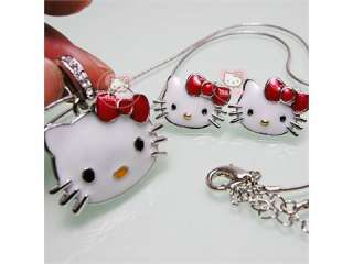 beautiful Red hello kitty necklaces and earrings H23