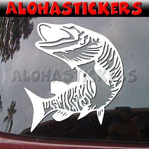MUSKIE FISH Car Truck Boat Laptop Fishing Hunting Vinyl Decal Window