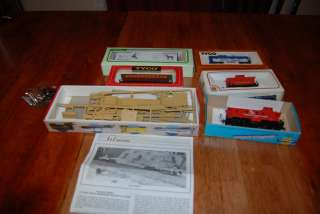 athearn walthers bevbel set flat car caboose train HO scale lot